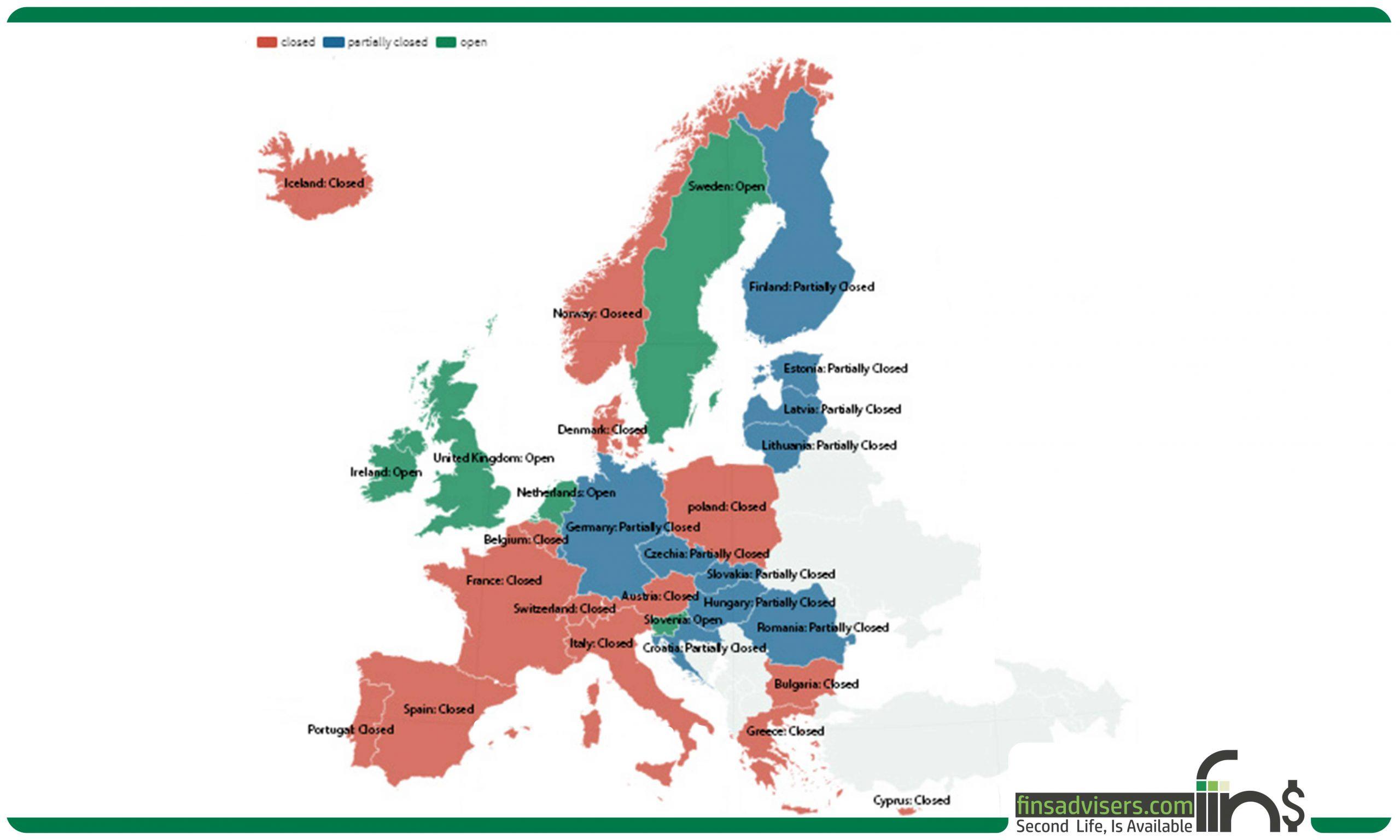 آخرین اخبار از بازگشایی مرزهای اروپایی