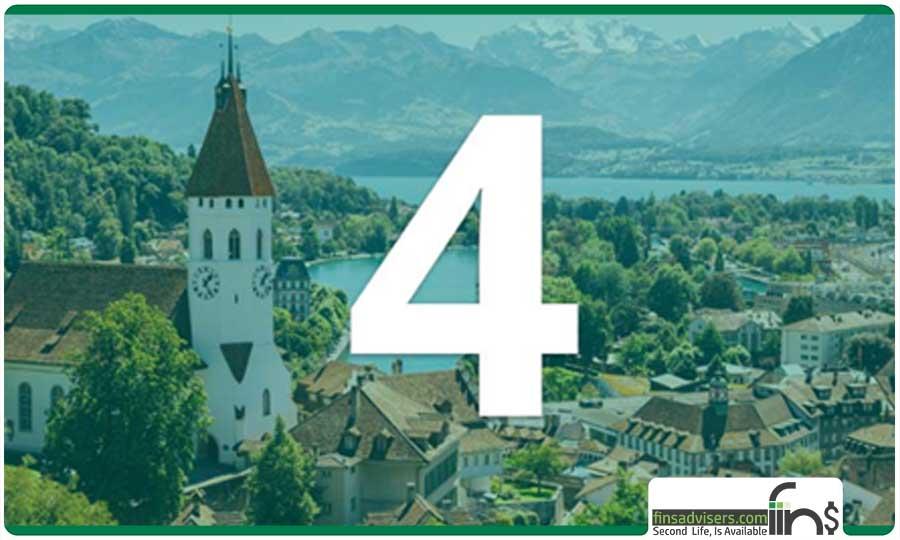 رتبه چهارم: کشور سوئیس