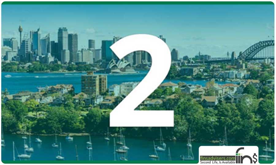رتبه دوم: کشور استرالیا