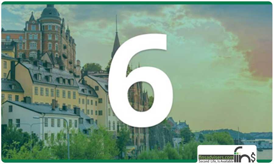 رتبه ششم: کشور سوئد