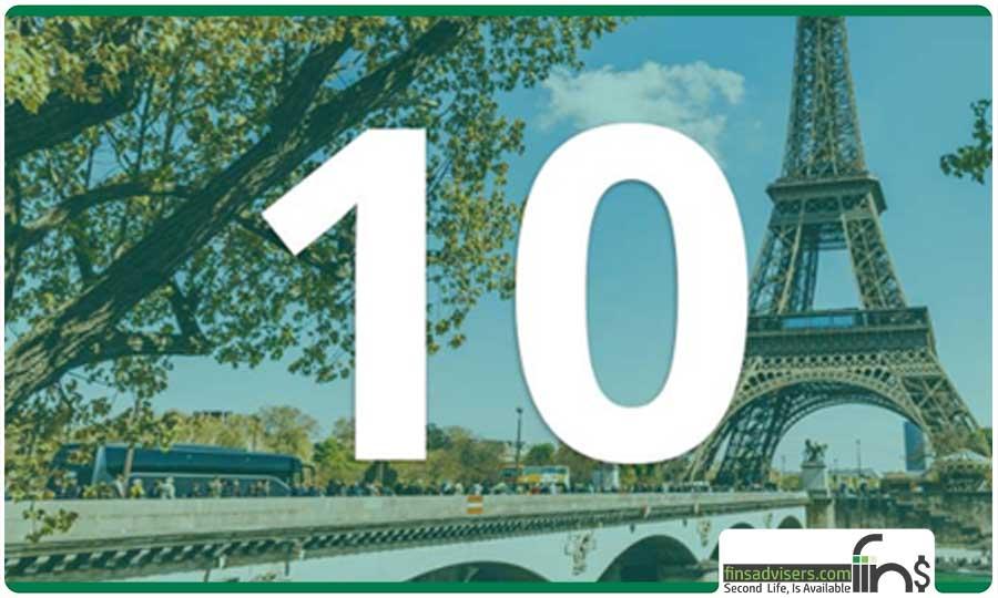 رتبه دهم: کشور فرانسه