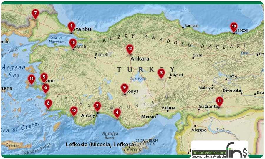 ۱۵ شهر برتر ترکیه که حتما باید ببینید