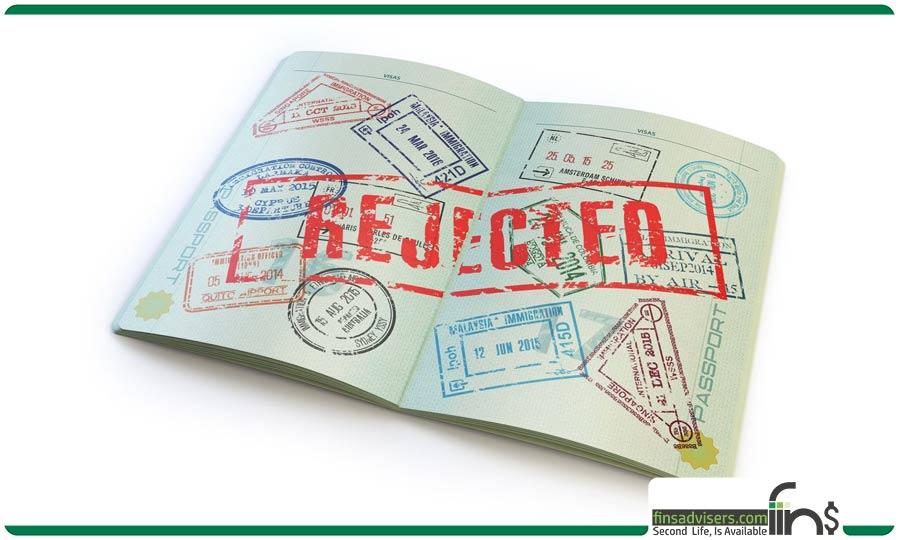 مهر ریجکت در پاسپورت