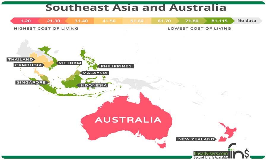 جنوب شرقی آسیا و استرالیا