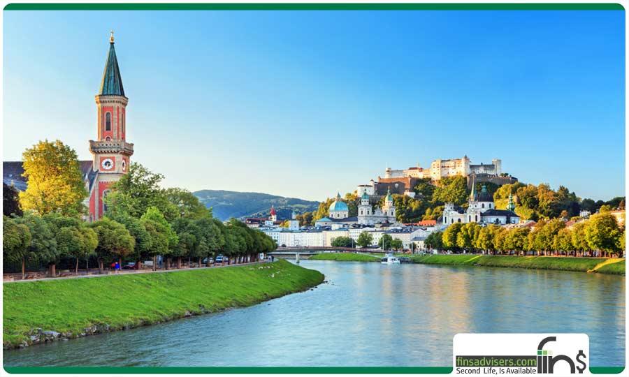 شهر سالزبورگ (در مرکز اتریش)