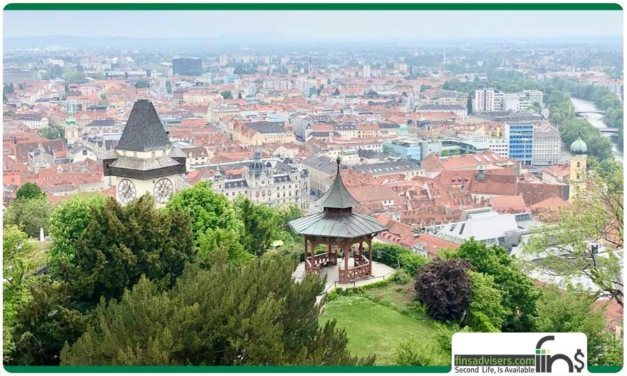 شهر گراتس (در جنوب شرقی اتریش)
