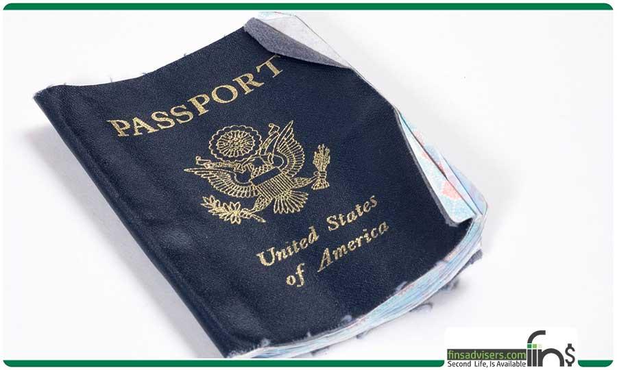 پاسپورت آسیب دیده